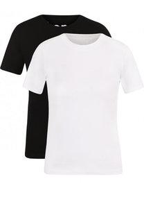 Комплект из двух футболок с логотипом бренда Acne Studios