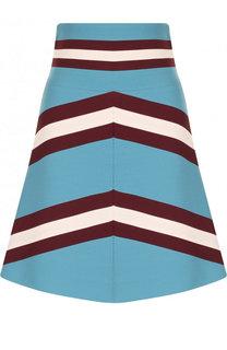 Мини-юбка из смеси шерсти и шелка Valentino