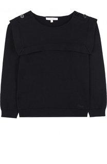 Хлопковый пуловер Chloé
