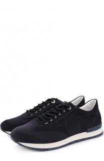 Замшевые кроссовки на шнуровке A. Testoni