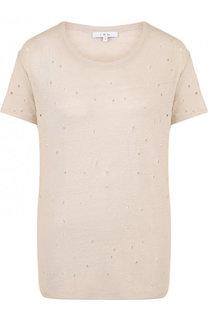 Льняная футболка прямого кроя с потертостями Iro