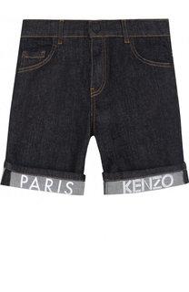 Джинсовые шорты с отворотами Kenzo