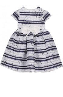 Платье с пышной юбкой и декоративным поясом Il Gufo