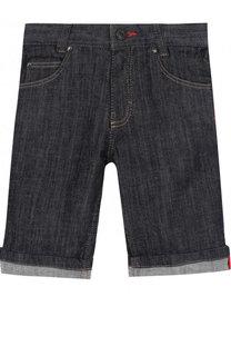 Джинсовые шорты с отворотами Givenchy