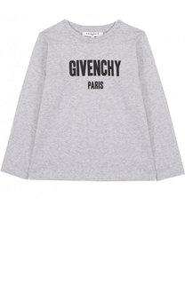 Хлопковый лонгслив с логотипом бренда Givenchy