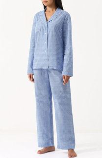 Хлопковая пижама с контрастным принтом Derek Rose