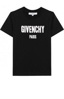 Хлопковая футболка с логотипом бренда Givenchy