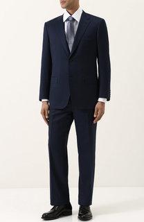 Шерстяной костюм с пиджаком на двух пуговицах Brioni