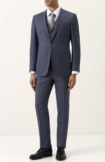 Шерстяной костюм-тройка Canali