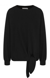 Однотонный вязаный пуловер из хлопка Vince