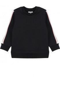 Хлопковый свитшот с контрастной отделкой Givenchy