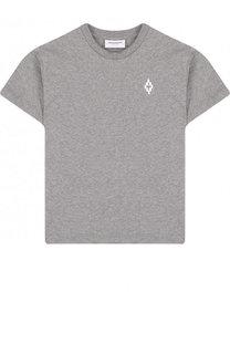 Хлопковая футболка с вышивкой Marcelo Burlon Kids of Milan