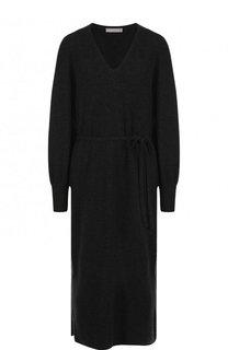 Платье-миди из смеси шерсти и кашемира Vince