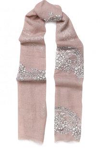 Кашемировый шарф с кружевной отделкой Vintage Shades