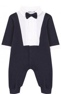 Хлопковый комбинезон с декоративным галстуком-бабочкой Aletta