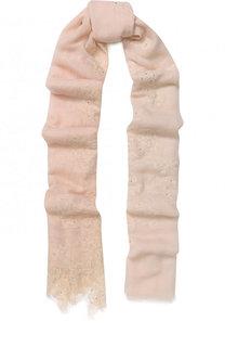 Шерстяной шарф с отделкой из кружева и страз Vintage Shades