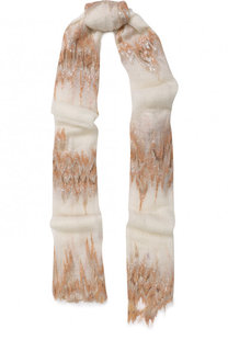 Кашемировый шарф тонкой вязки с отделкой из пайеток Vintage Shades