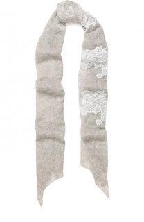 Кашемировый шарф тонкой вязки с кружевной отделкой Vintage Shades