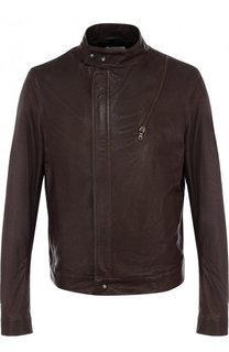 Кожаная куртка на молнии с воротником-стойкой Tomas Maier