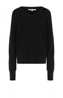 Пуловер из смеси хлопка и шерсти с кашемиром Helmut Lang