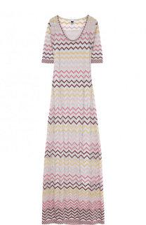 Приталенное вязаное платье-макси M Missoni