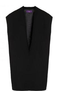 Однотонный шерстяной жилет свободного кроя Yohji Yamamoto