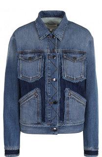 Джинсовая куртка свободного кроя с потертостями Maison Margiela