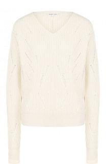 Пуловер фактурной вязки из шерсти Helmut Lang