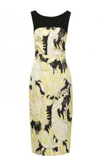 Приталенное платье-миди без рукавов Dries Van Noten