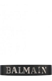 Кожаный ремень с логотипом бренда Balmain