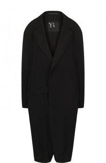 Однотонное хлопковое пальто свободного кроя Yohji Yamamoto