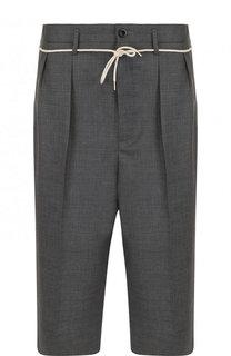 Шерстяные удлиненные шорты свободного кроя Maison Margiela