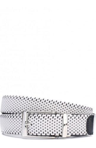 Плетеный текстильный ремень с кожаной отделкой и металлической пряжкой Paul&Shark