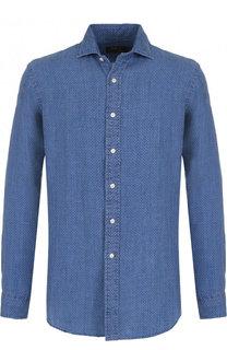 Льняная рубашка с воротником кент Polo Ralph Lauren