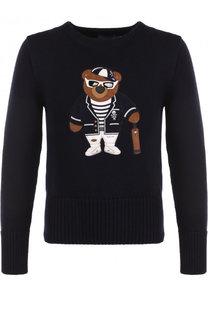 Шерстяной свитер с аппликацией Ralph Lauren