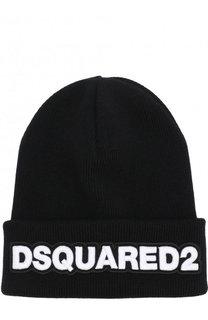 Шерстяная шапка с нашивкой Dsquared2