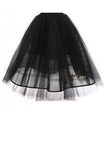 Пышная многоярусная юбка-миди Oscar de la Renta