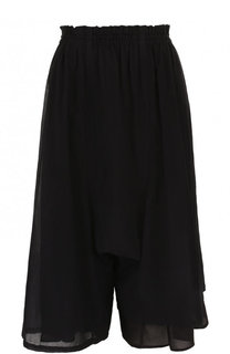 Укороченные однотонные брюки из хлопка Yohji Yamamoto
