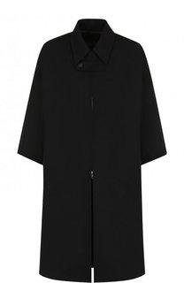 Однотонное шерстяное пальто свободного кроя Yohji Yamamoto