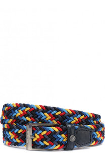 Плетеный текстильный ремень с кожаной отделкой и металлической пряжкой Paul&Shark Paul&Shark
