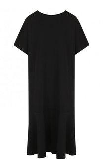 Однотонное шерстяное платье свободного кроя Yohji Yamamoto