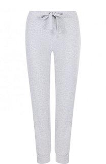 Однотонные хлопковые брюки с эластичным поясом Deha
