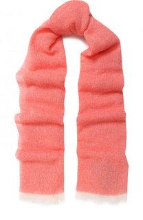 Кашемировый шарф с бахромой Emporio Armani