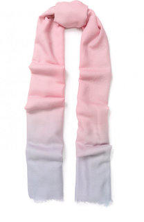 Шерстяной шарф с градиентным рисунком Emporio Armani