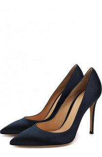 Атласные туфли Gianvito 105 на шпильке Gianvito Rossi