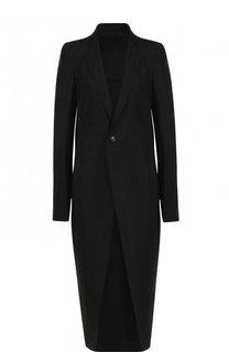 Пальто свободного кроя из смеси шерсти и шелка Rick Owens