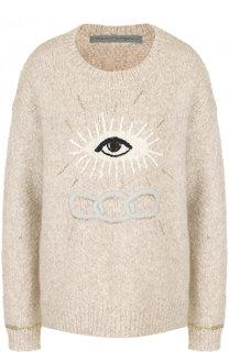 Шерстяной пуловер с круглым вырезом Raquel Allegra