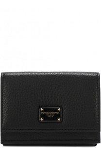 Кожаное портмоне с клапаном и логотипом бренда Dolce & Gabbana