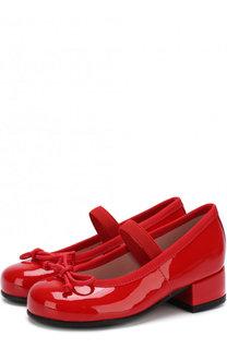 Лаковые туфли с бантами и перемычкой Pretty Ballerinas