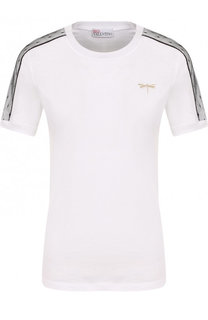 Хлопковая футболка с круглым вырезом REDVALENTINO